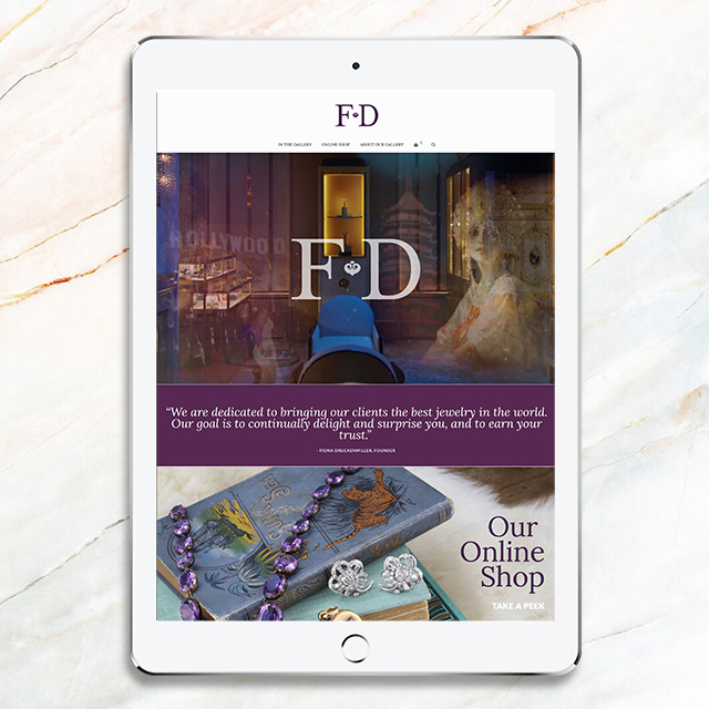 E-Commerce Web Design for FD Gallery